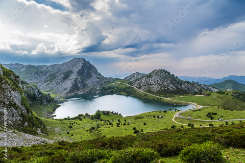 Photo Covadonga, Spain. Picturesque Lake Enol