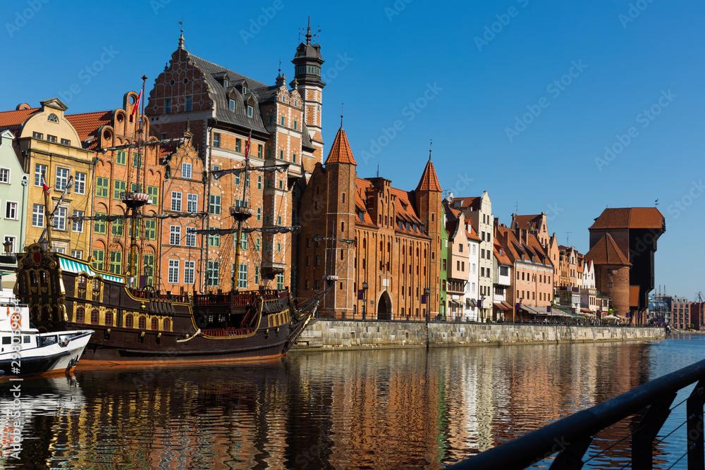 Fototapety, obrazy: Motlawa river embankment in Gdansk