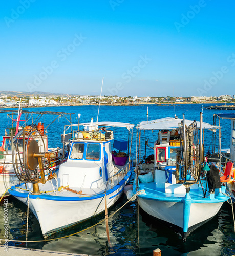 Fishing boats, Paphos harbor, Cyprus