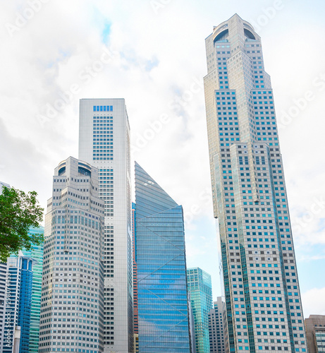 Modern skyscrapers, Singapore Downtown Core