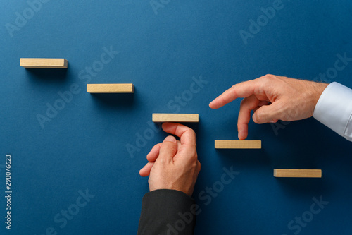 Conceptual image of business partnership Canvas Print