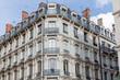 canvas print picture - Fassade historischer Wohngebäude in Lyon, Frankreich