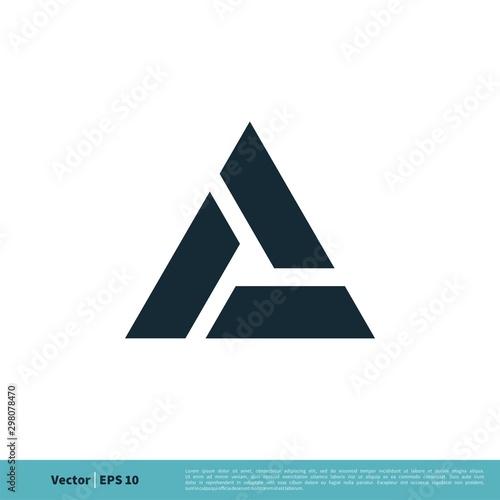 A Letter Trinity Icon Vector Logo Template Illustration Design Canvas Print