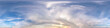 Leinwanddruck Bild - Seamless evening sky before sunset hdri panorama 360 degrees angle view with beautiful clouds  with zenith for use in 3d graphics as sky dome or edit drone shot