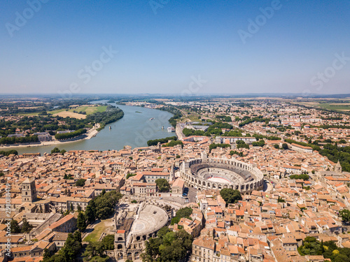 Fotomural Aerial View of Arles Cityscapes, Provence, France