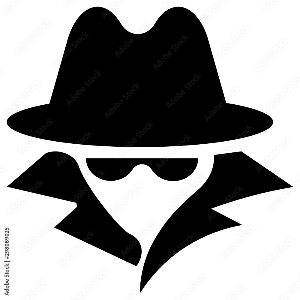 Fototapeta Computer hacker Avatar concept, Internet spy Vector Cracker Agent Avatar Icon design