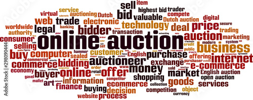 Online auction word cloud Canvas Print