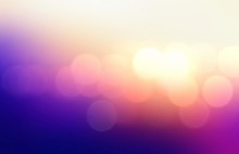 Bright Bokeh Pattern On Purple Vivid Background. Wonderful Festive Lights.
