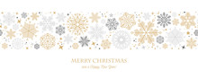 Christmas Card With Snowflake Border Vector Illustration