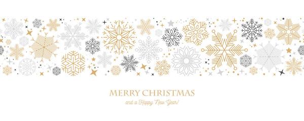 christmas card with snowflake border vector illustration