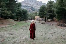 Carefree Barefoot Blond Woman ...