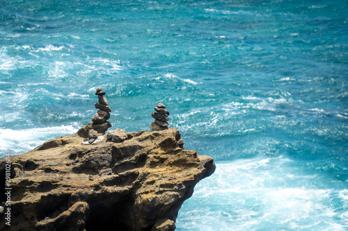 Fototapeta  Stacking Rocks Halona BlowHole Lookout