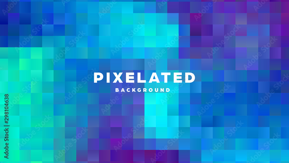 Fototapety, obrazy: Polygonal abstract background with squares. Colorful gradient design. Low poly geometric rectangle shape modern banner. Vector illustration.