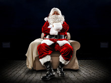 Santa Claus And Free Space For...