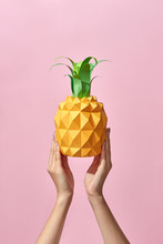 Pineapple With Green Leaves Ma...