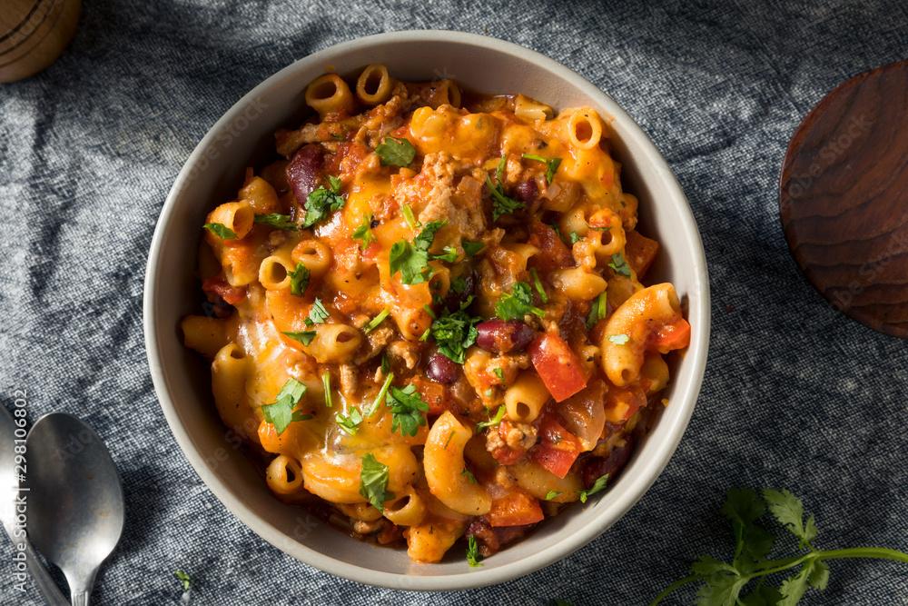 Fototapety, obrazy: Homemade Chili Mac and Cheese
