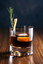 Glass Of Whiskey With Rosemary