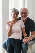 Elderly Couple Portrait At Home