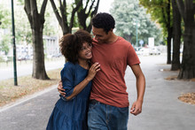 Young Black Couple In The City