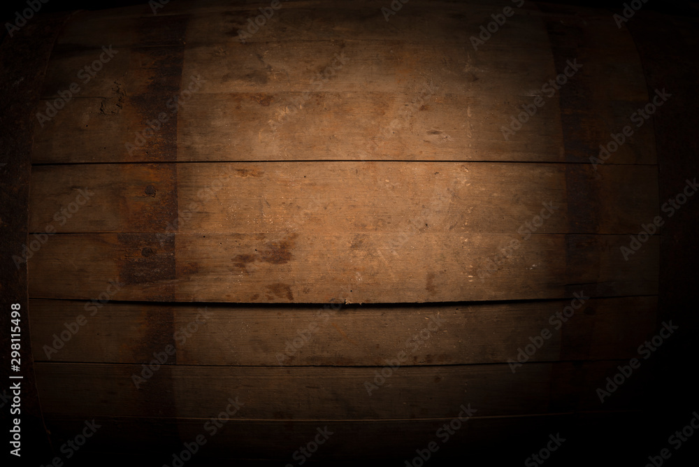 Fototapety, obrazy: background of barrel and worn old table of wood