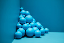 Abstract Three-dimensional Installation With Spheres