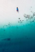 Tropical Beach From The Air