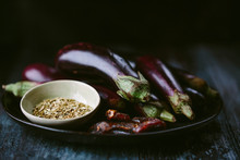 Aubergines, Dates And Fennel Seeds