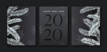 New Year 2020 Cutout Pine Tree...
