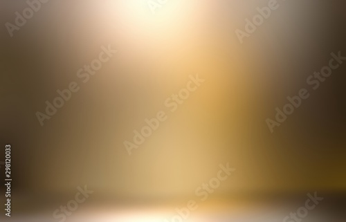 Golden light and brown shade interactive 3d illustration. Flare abstract background.
