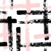 Colorful Brush Stroke Pattern Brush Stroke Pattern. Abstract Seamless Background. Pastel Drawn.