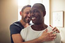 Black And White Gay Couple Smi...