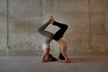 Man And Woman In Harmonic Asana