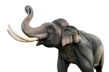 Tajlandski kip slona izoliran na bijeloj pozadini. Datoteka sadrži put za isječak tako jednostavan za rad.