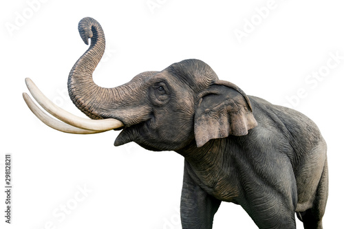 Photo  Thailand elephant statue isolated on white background