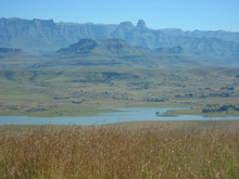 The Drakensberg Mountains And The Woodstock Dam.