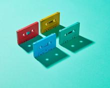 Colored Retro Audio Cassette W...