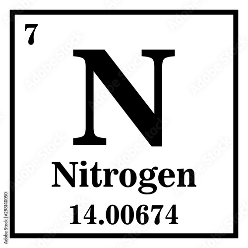 Nitrogen Periodic Table of the Elements Vector illustration eps 10 Canvas-taulu