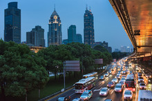 Downtown Shanghai Rush Hour
