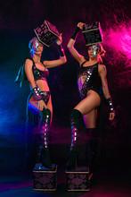 Two Beautiful Go-go Dancer Gir...