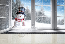 Winter Window And Free Space F...