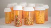 Close Up Of Medicine Bottles