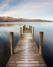 Ashness Jetty On Derwent Water, UK