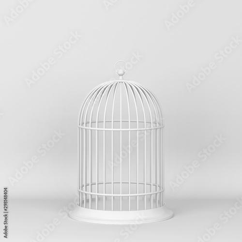 Photo Closed decorative bird cage
