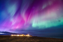 Colorful Northern Lights In Iceland