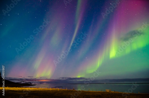 Canvas Prints Northern lights colorful northern lights in Iceland