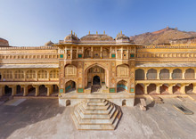 Aerial View Of The City Palace At Jaipur, India.