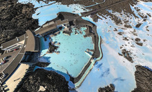 Aerial View Of The Thermal Resort Blue Lagoon, Iceland