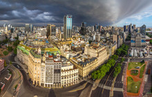 Aerial View Of Buenos Aires Ci...