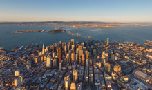 Aerial View Of San Francisco Downtown, USA