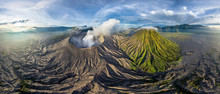 Aerial View Of Bromo Tengger Semeru National Park, Indonesia